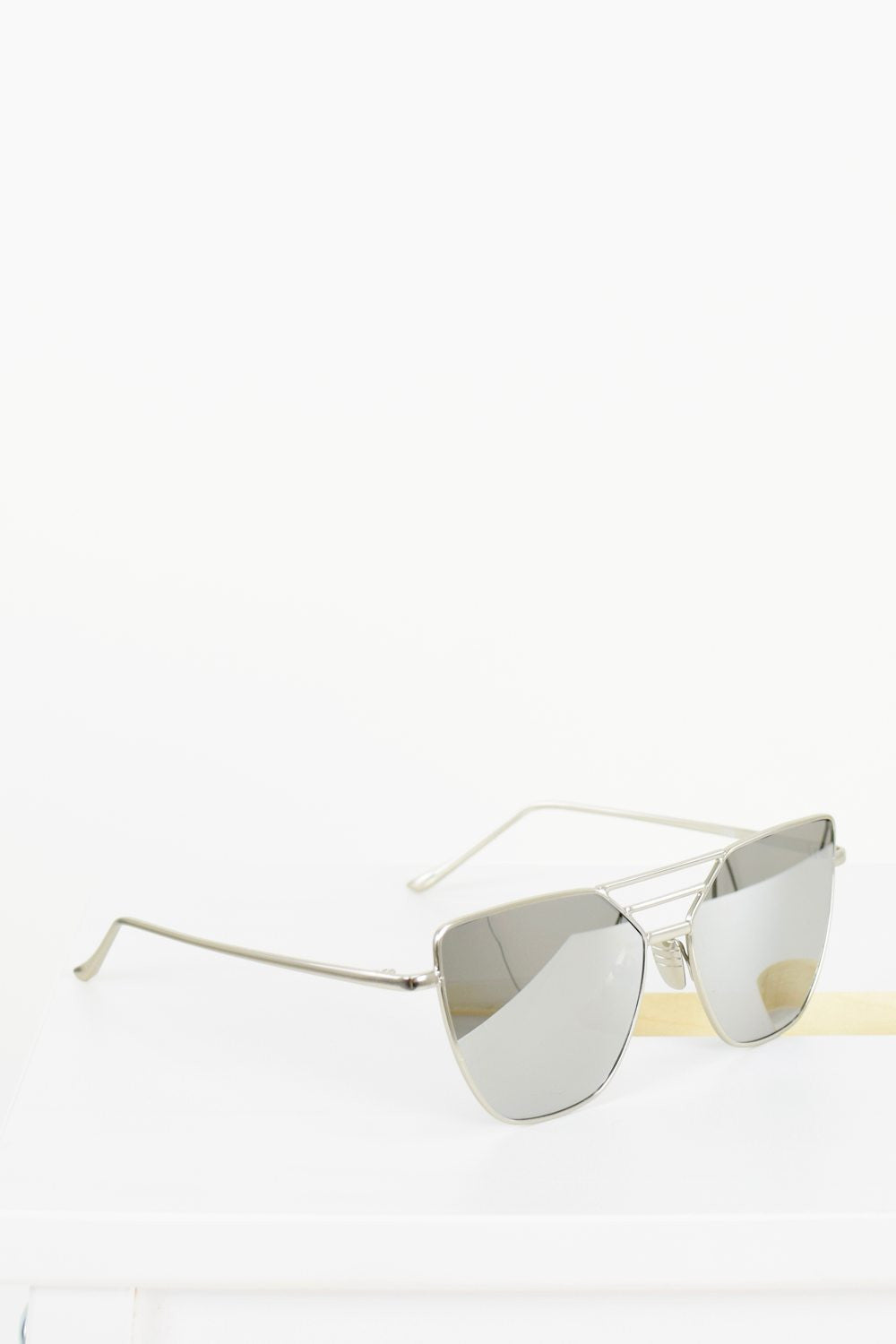 PARIS rose Tinted Gold Mirrored Sunglasses - 4