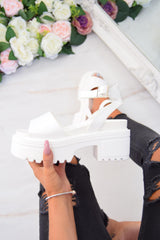 STEP IT Chunky Platform Sandals - White - 1