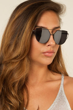 OUT THERE Vintage Frame Black Sunglasses