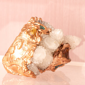Awaken Spirit Quartz Multi Finger Copper Ring (Size 5-7) - Awaken
