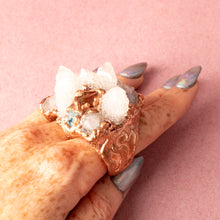 Load image into Gallery viewer, Awaken Spirit Quartz Multi Finger Copper Ring (Size 5-7) - Awaken