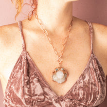 Load image into Gallery viewer, Awaken Spirit Quartz Statement Copper Necklace - Awaken