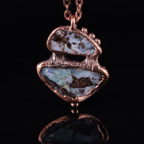 Boulder Opal Copper Necklace