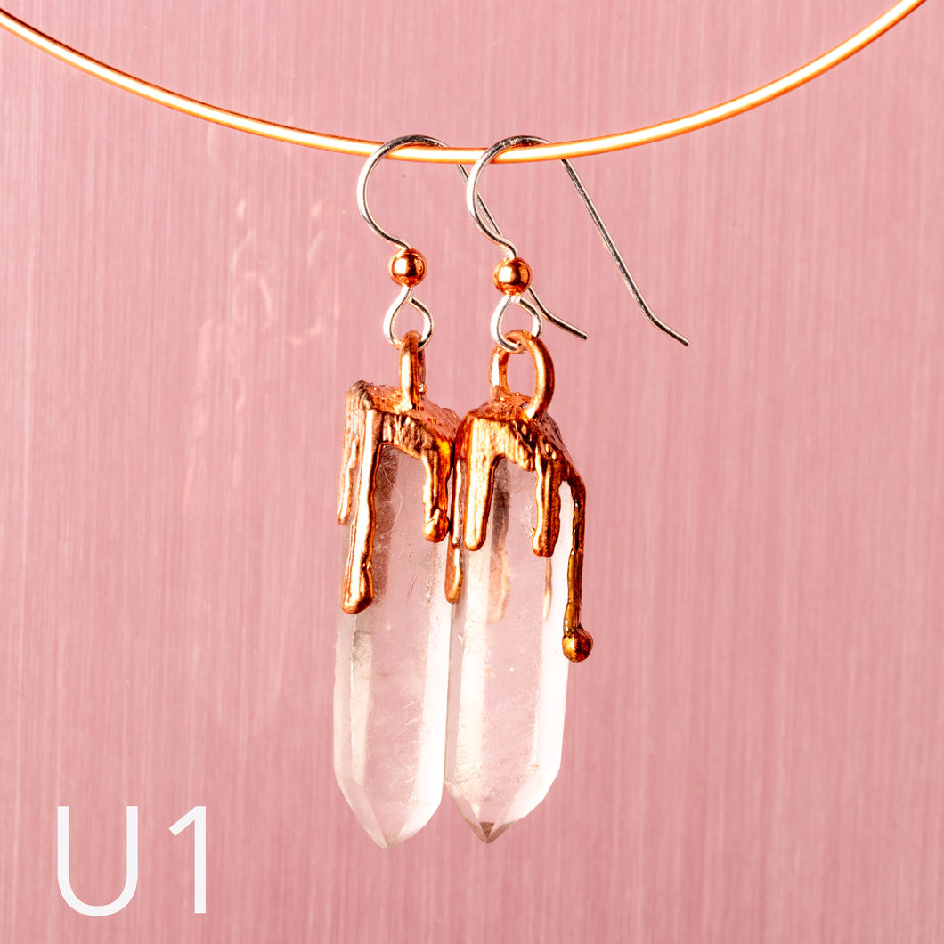 Clear Quartz Dangle Earrings - Awaken