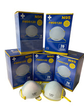 Load image into Gallery viewer, N 95 NIOSH Mask  Box of 20 (Particulate Respirator Mask)