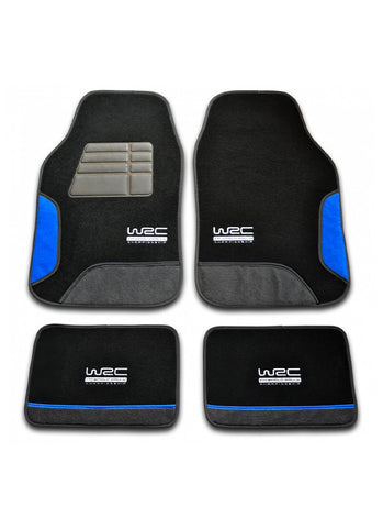 WRC - Set 4 tappetini universali in moquette (blue racing)