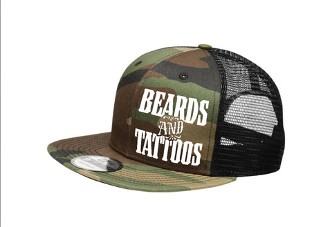 Flat Bill Camo Tattoo/Beard