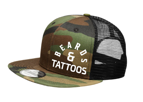 Flat Bill Camo Beards/Tattoo 2