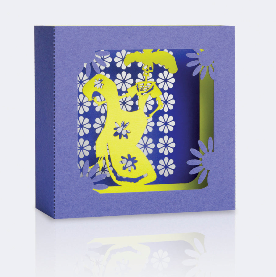 Square Pop Up Card - La Catrina