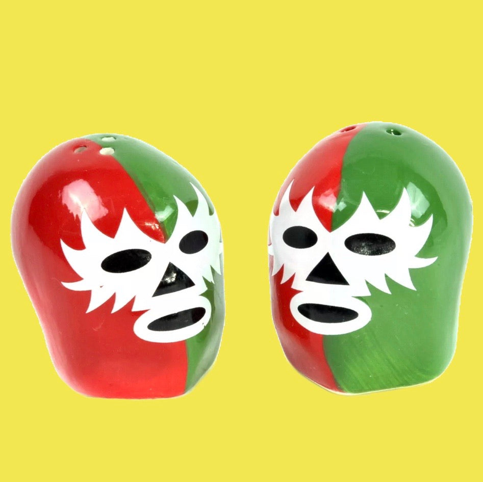 Dos Luchadores Salt & Pepper Shakers