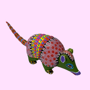 Medium Alebrije Armadillo by Elvis Castillo