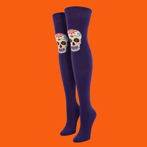 "Women's ""Single Muertos"" Over-the-Knee Socks"