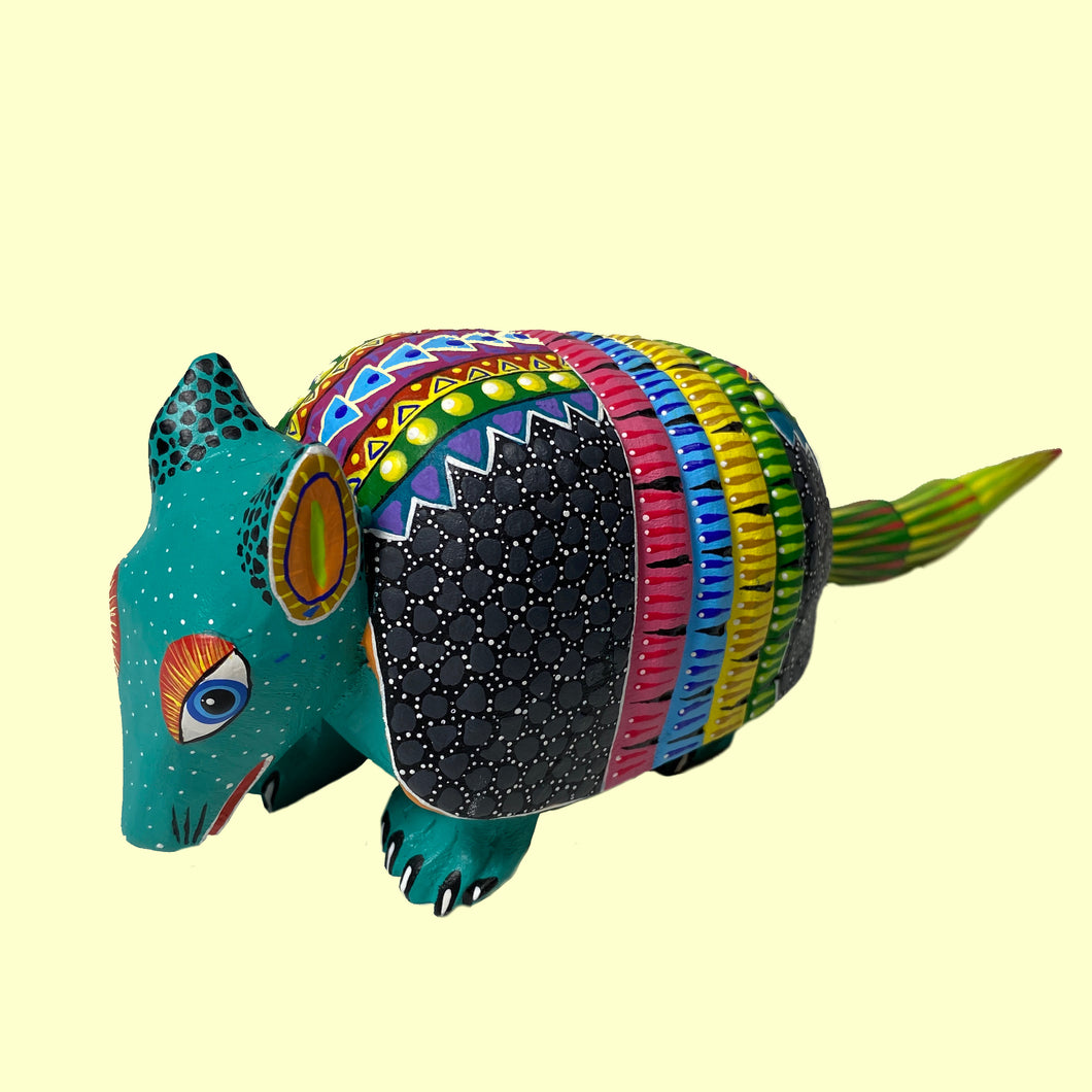 Medium Alebrije Armadillo by Chabelly Castillo