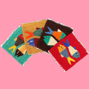 Zapotec Coaster Set - Animals