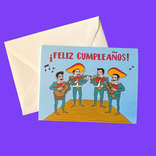 Load image into Gallery viewer, Feliz Cumpleanos Mariachi Greeting Card