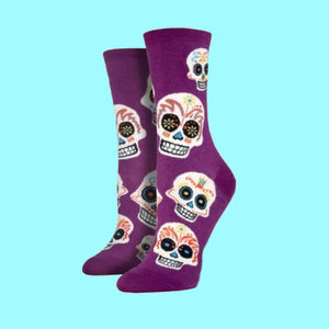 "Women's ""Big Muertos Skull""  Socks"