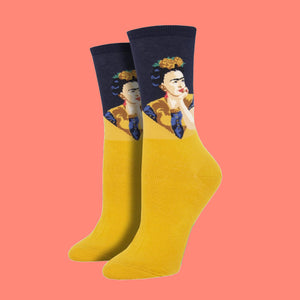 "Women's ""Pensive Frida"" Socks"