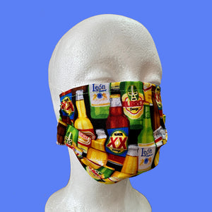 Mexican Beers Face Mask- Adult Size