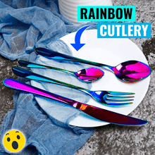 Load image into Gallery viewer, Rainbow Silverware Set