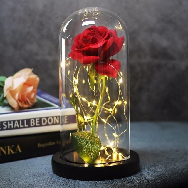 LED Rose Light in a Flask. - The Shimmering You