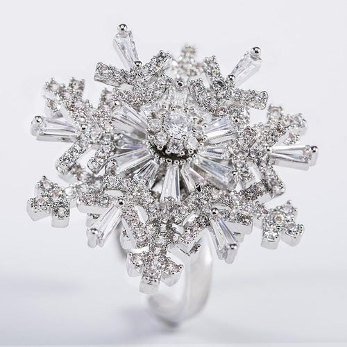 Rotatable Snowflake Ring - The Shimmering You