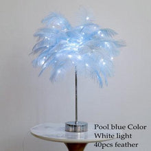 Carica l'immagine nel visualizzatore di Gallery, DIY Feather Table Lamp - The Shimmering You