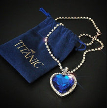 Load image into Gallery viewer, Heart of The Ocean Necklace - The Shimmering You