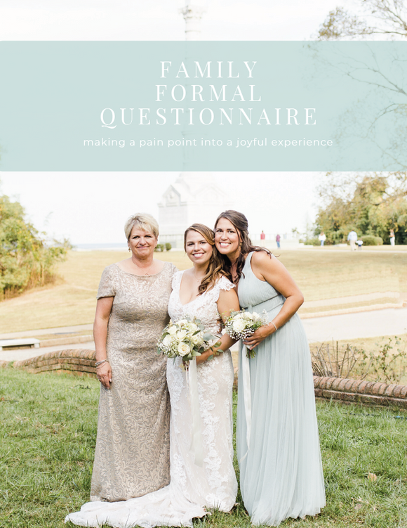 Family Formals Questionnaire Resource
