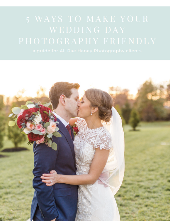 5 Ways to Make Your Wedding Day Photography-Friendly Resource