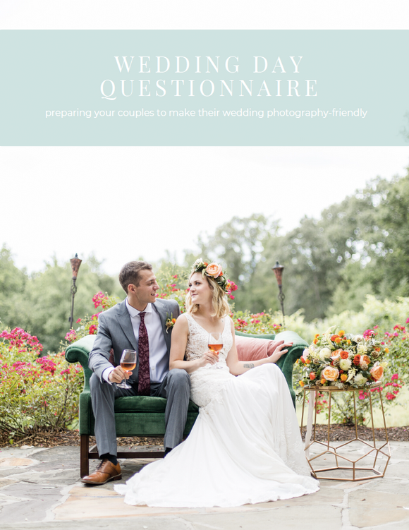 Wedding Day Questionnaire Resource