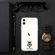 Load image into Gallery viewer, GrayOwl iPhone Case (black logo)