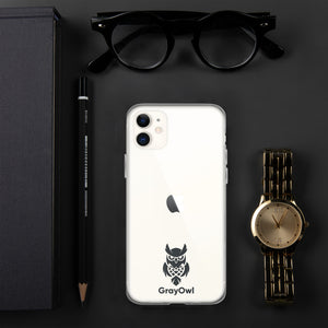 GrayOwl iPhone Case (black logo)