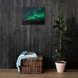 Green Aurora Canvas Print