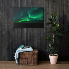 Load image into Gallery viewer, Green Aurora Canvas Print