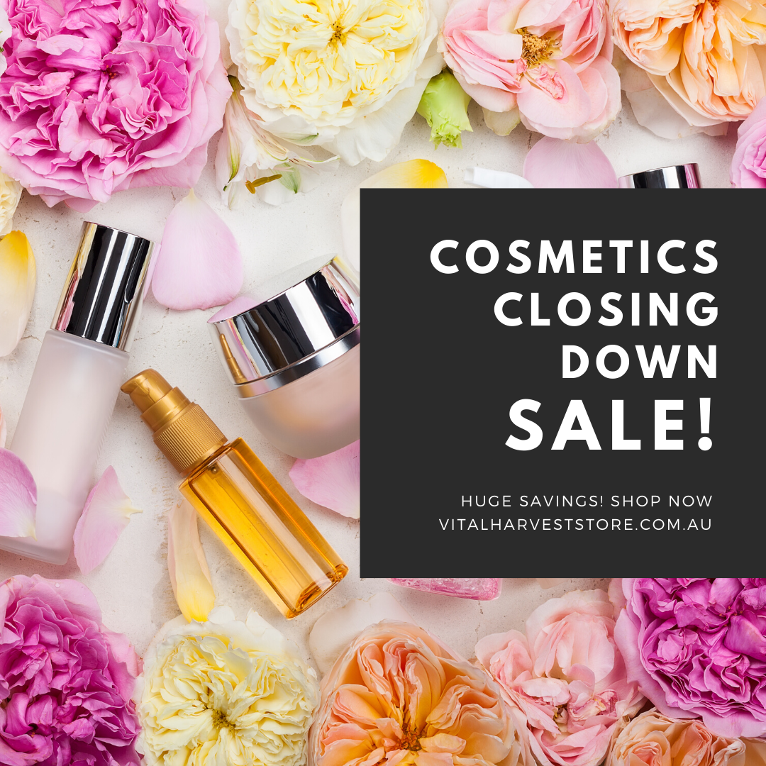 Vital Harvest Cosmetics closing down sale