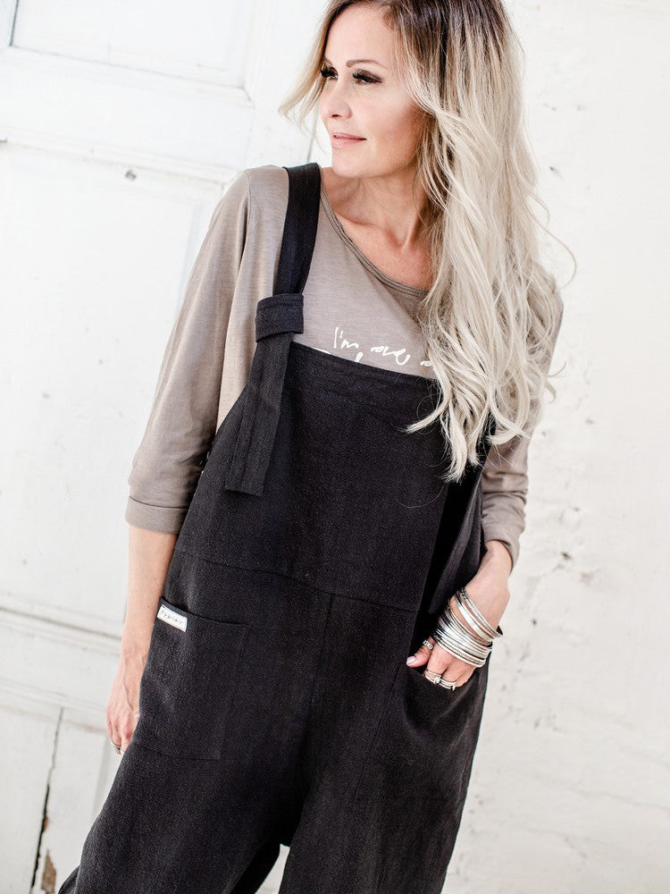 Casual Solid Jumpsuit with Pockets - JNjeans