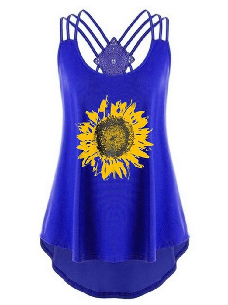 Sunflower Strappy Criss-Cross Open Back Top - JNjeans