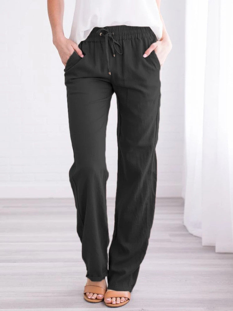 Cotton And Linen Comfy Pockets Pants - JNjeans