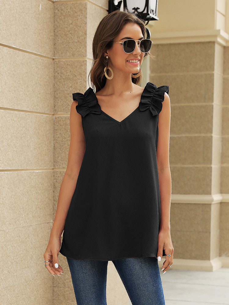 Lace Pleated Shoulder Casual Shirt - JNjeans