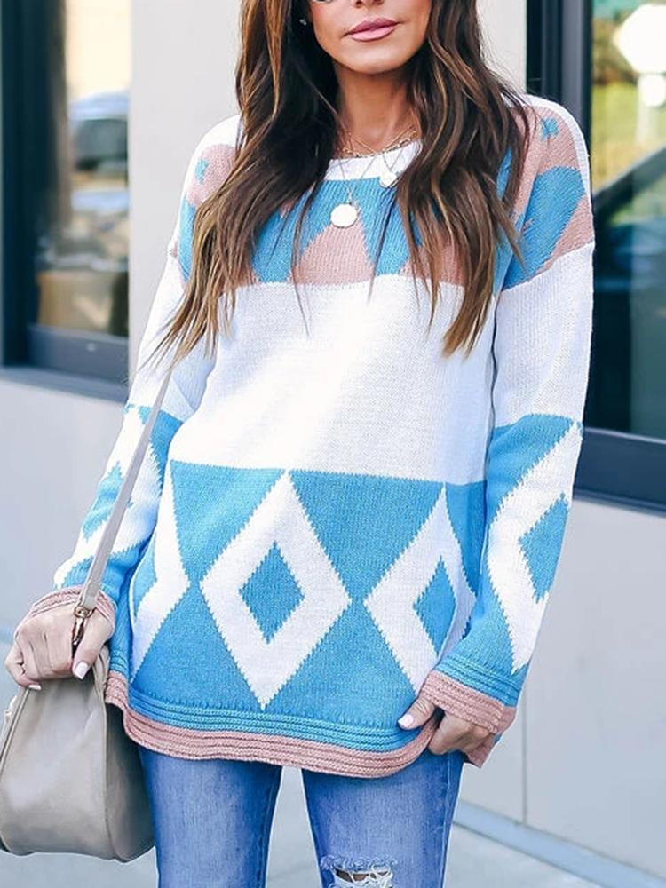 Color-Block-Geometric-Pattern-Sweater