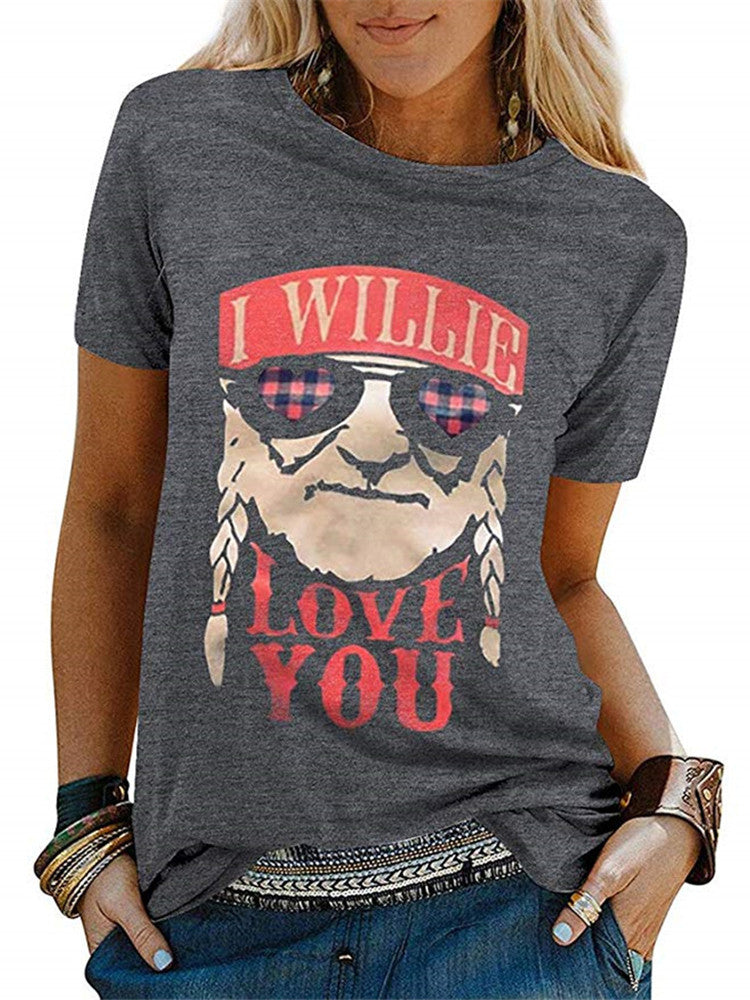 Love You Printed Casual T-Shirt - JNjeans
