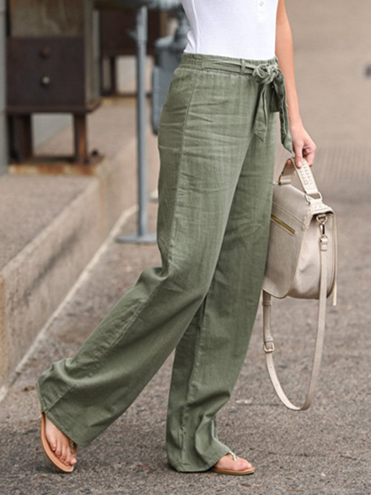 High Waist Wide Leg Pants - JNjeans