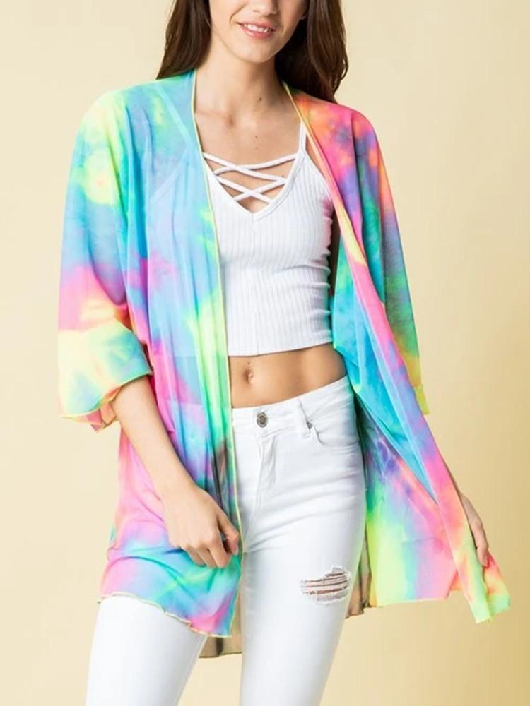 Tie-dye Loose Anti-Sun Coat - JNjeans