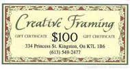 Creative Framing $100 Gift Certificate for $50