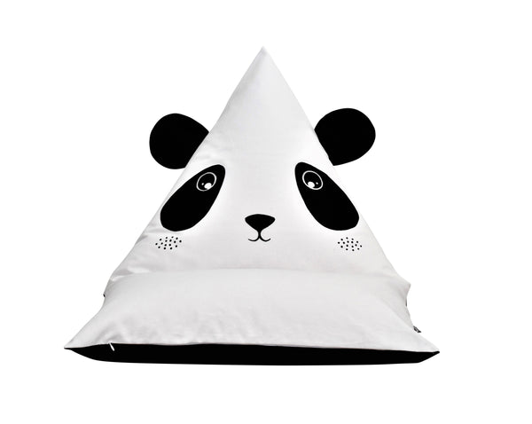 FILLED Andy Panda Personalised Bean Bag Chair - White