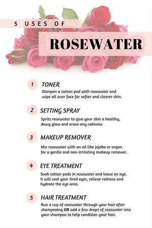 TNC Organic Rose Water Facial Mist (4oz) - The Necessities Company