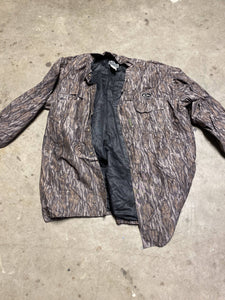 Drake EST button up in Mossy Oak Bottomland