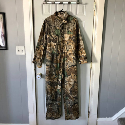 Vintage Walls Advantage camo made in USA coveralls size medium