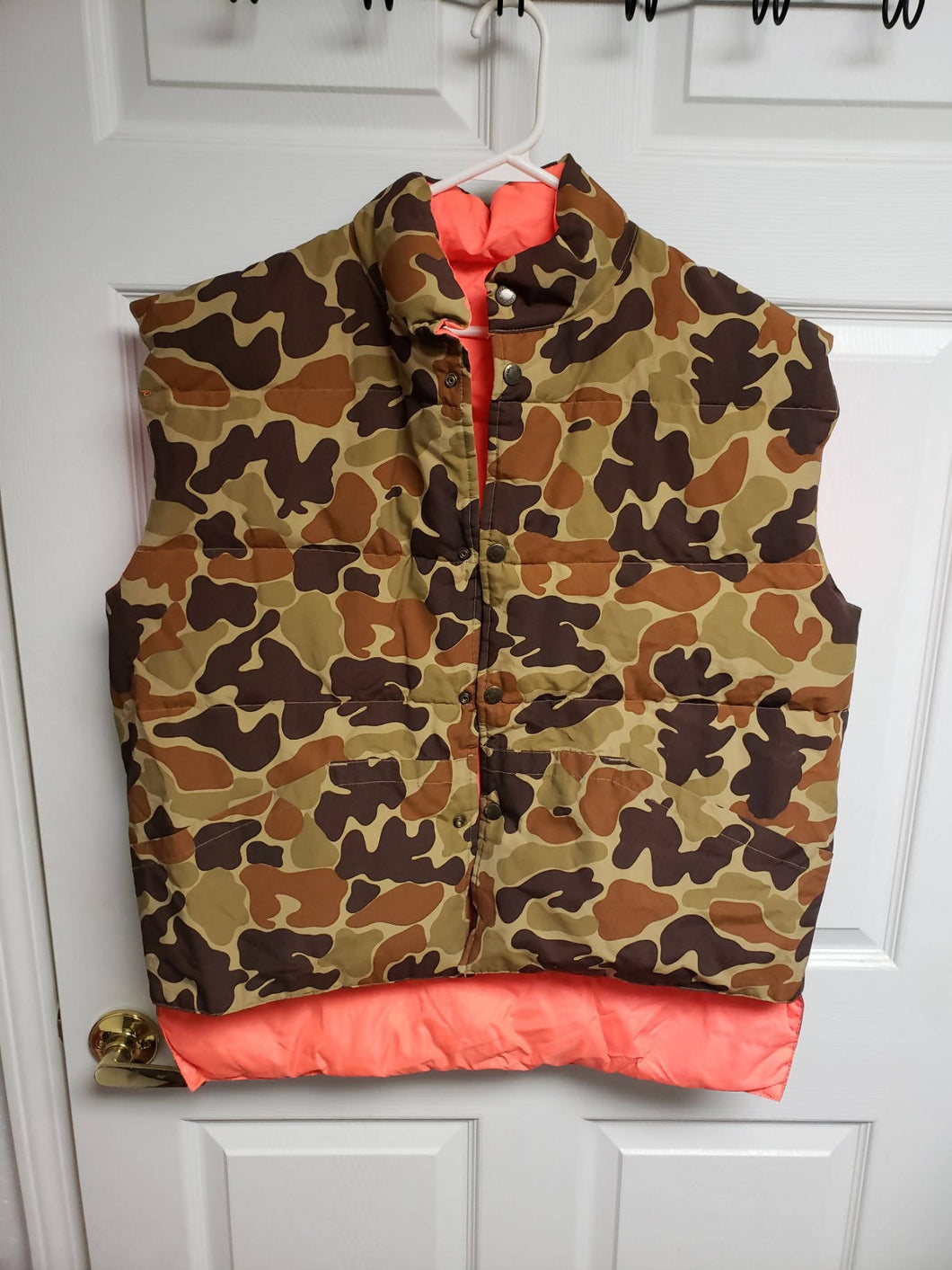 Vintage XL Cabelas Camo/Orange Vest