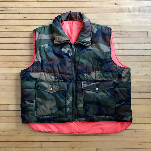 Vintage Winchester reversible nylon camo /orange vest size XL